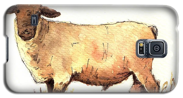 Male Sheep Black Galaxy S5 Case by Juan  Bosco