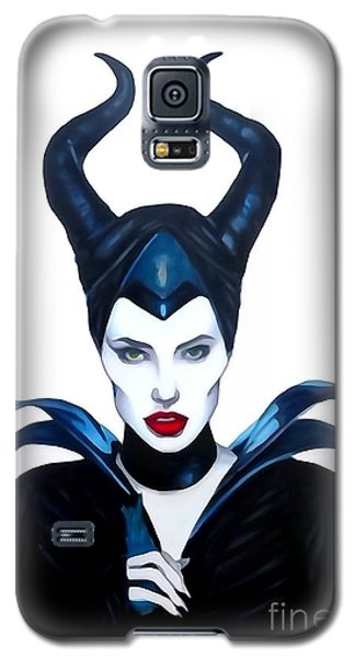 Maleficent Watercolor Galaxy S5 Case