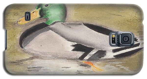 Galaxy S5 Case featuring the pastel Mallard by David Jackson