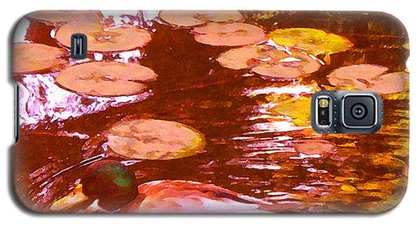 Mallard Duck On Pond 3 Square Galaxy S5 Case