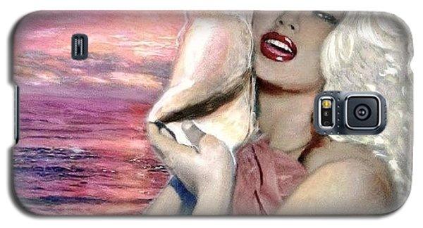 Galaxy S5 Case featuring the painting Mamie Van Doren by Marie-Line Vasseur