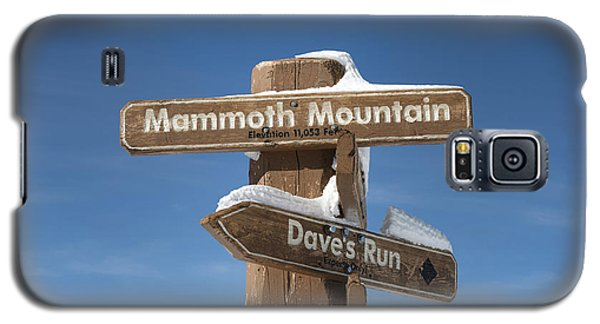 Mammoth Mountain Sign In Mono County Galaxy S5 Case