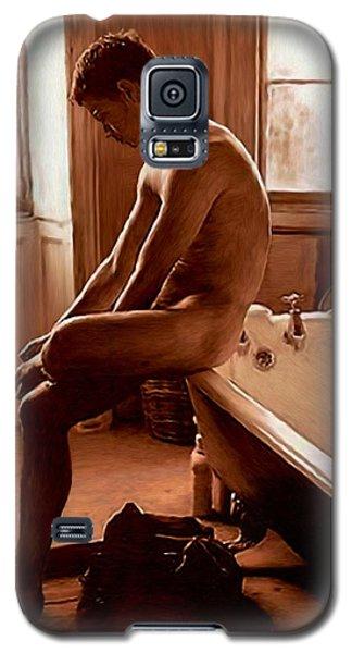 Man And Bath Galaxy S5 Case