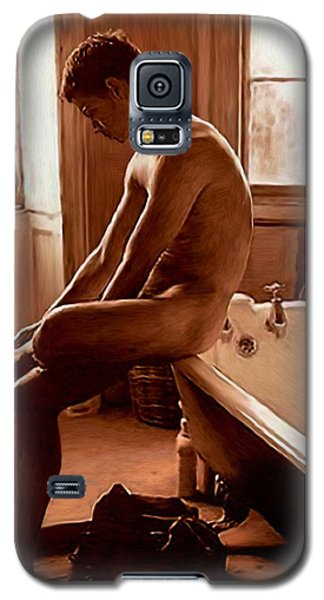 Man And Bath Galaxy S5 Case