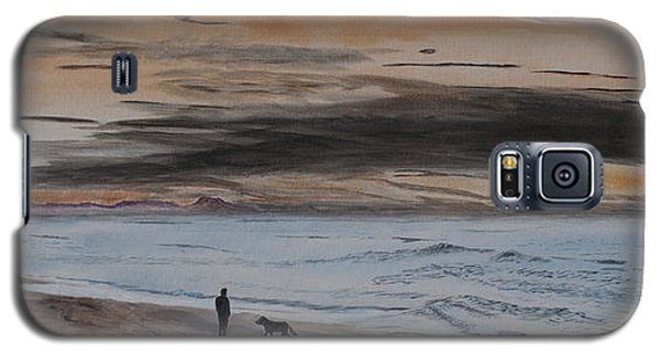 Man And Dog On The Beach Galaxy S5 Case