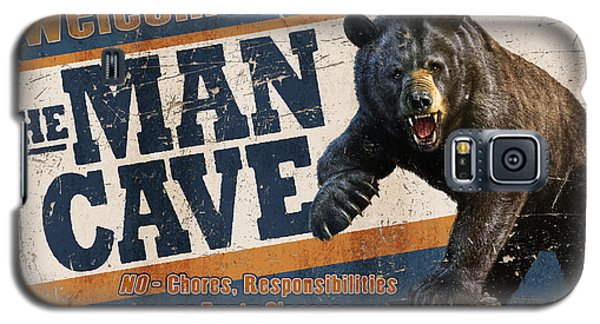 Galaxy S5 Case featuring the painting Man Cave Balck Bear by JQ Licensing