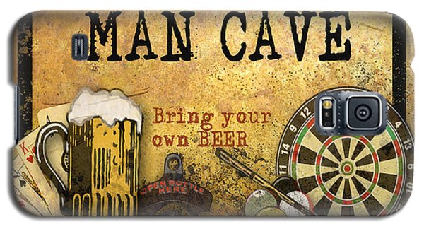 Man Cave-bring Your Own Beer Galaxy S5 Case by Jean Plout