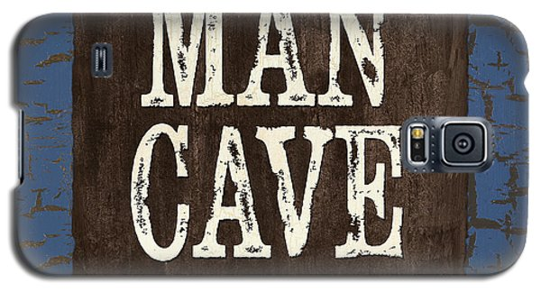 Man Cave Enter At Your Own Risk Galaxy S5 Case by Debbie DeWitt
