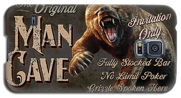 Galaxy S5 Case featuring the painting Man Cave Grizzly by JQ Licensing