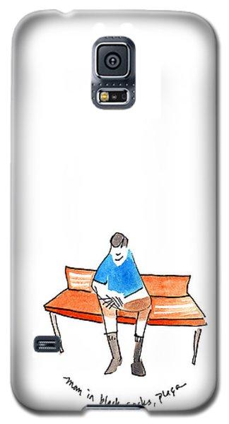 Man In Black Socks Galaxy S5 Case