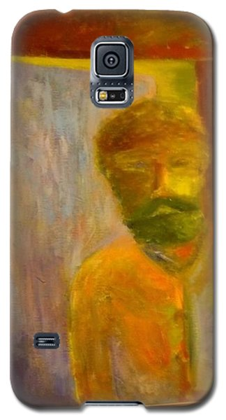 Galaxy S5 Case featuring the painting Man In Front Of The Door by Richard Benson