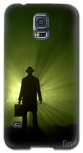 Galaxy S5 Case featuring the photograph Man In Light Beams by Lee Avison