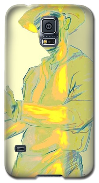 Man In Yellow One Galaxy S5 Case by Mary Armstrong