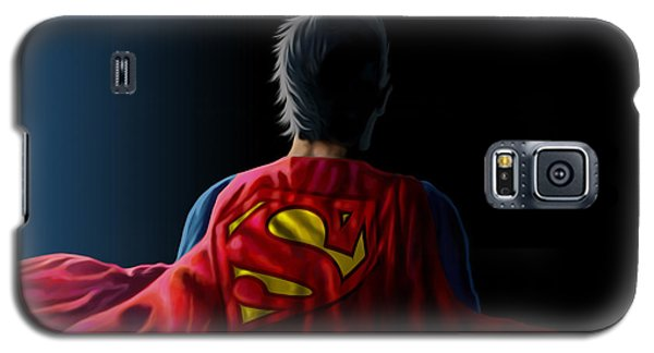 Galaxy S5 Case featuring the digital art Man Of Steel - Superman by Anthony Mwangi