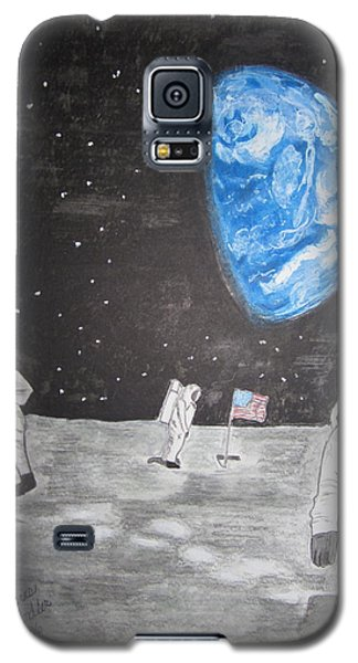 Galaxy S5 Case featuring the painting Man On The Moon by Kathy Marrs Chandler