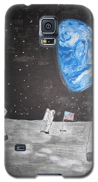 Man On The Moon Galaxy S5 Case by Kathy Marrs Chandler