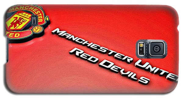 Man United Red Devils Poster Galaxy S5 Case