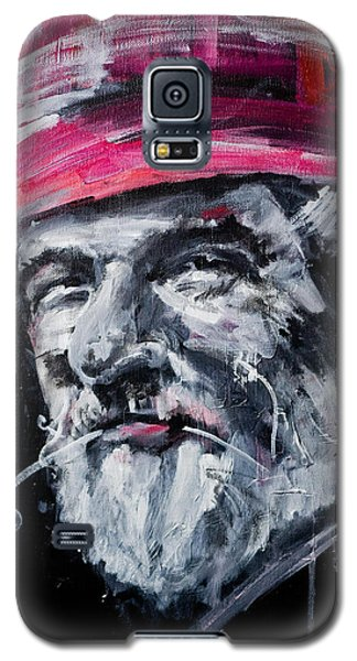 Man With A Flower Galaxy S5 Case