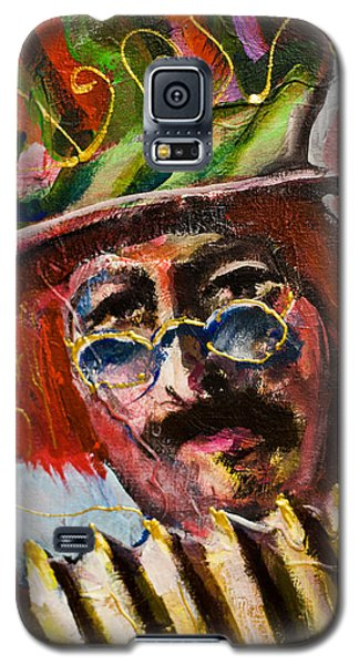 Man With Accordion-detail From Three Red Musicians Galaxy S5 Case