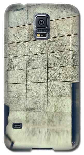 Galaxy S5 Case featuring the photograph Man With Cell Phone by Silvia Ganora