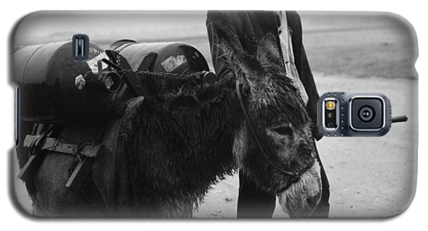 Man With Donkey In Communist Romania Galaxy S5 Case