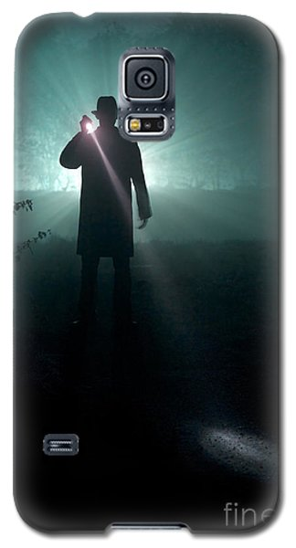 Galaxy S5 Case featuring the photograph Man With Flashlight  by Lee Avison