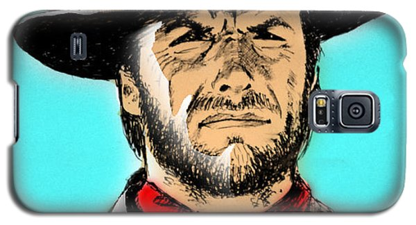 Galaxy S5 Case featuring the mixed media Clint Eastwood by Salman Ravish