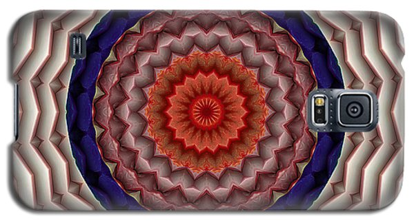 Galaxy S5 Case featuring the digital art Mandala 10 by Terry Reynoldson