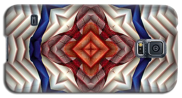Galaxy S5 Case featuring the digital art Mandala 11 by Terry Reynoldson