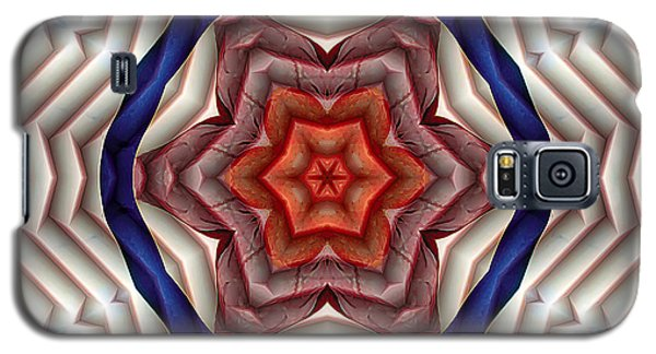 Galaxy S5 Case featuring the digital art Mandala 12 by Terry Reynoldson