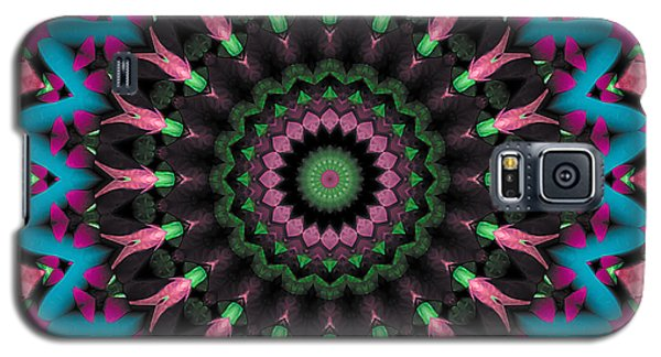 Galaxy S5 Case featuring the digital art Mandala 35 by Terry Reynoldson