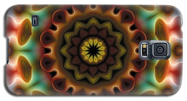 Galaxy S5 Case featuring the digital art Mandala 74 by Terry Reynoldson