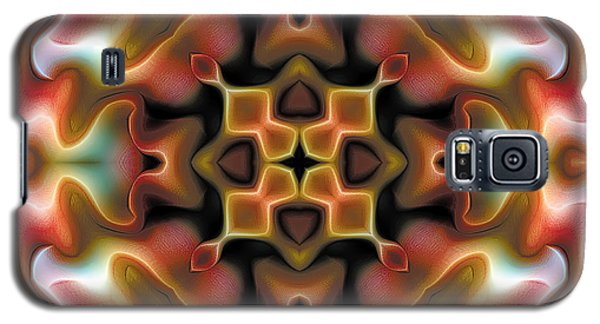 Galaxy S5 Case featuring the digital art Mandala 76 by Terry Reynoldson
