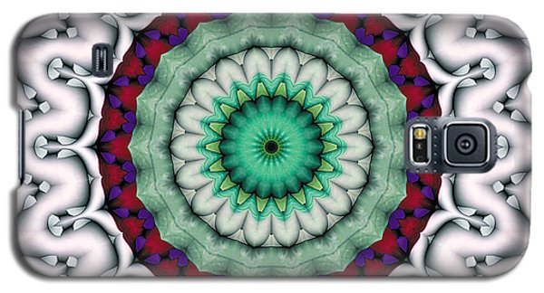 Galaxy S5 Case featuring the digital art Mandala 9 by Terry Reynoldson