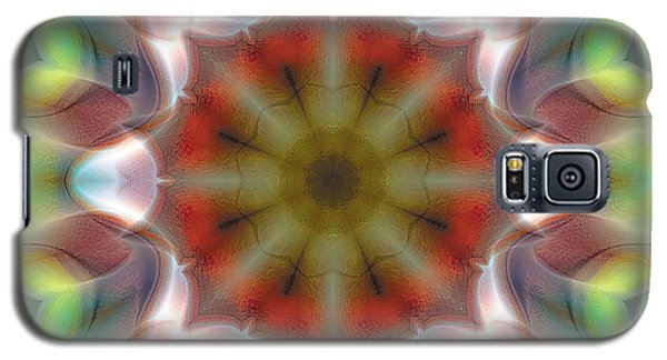 Galaxy S5 Case featuring the digital art Mandala 97 by Terry Reynoldson