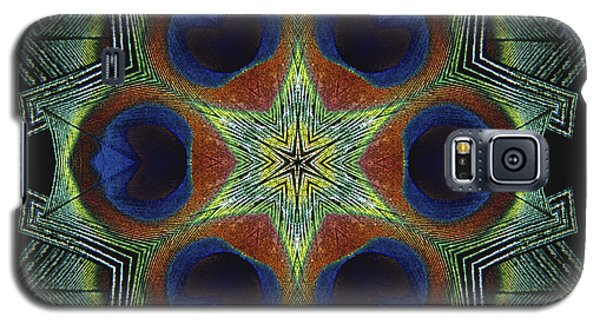Galaxy S5 Case featuring the digital art Mandala Peacock  by Nancy Griswold