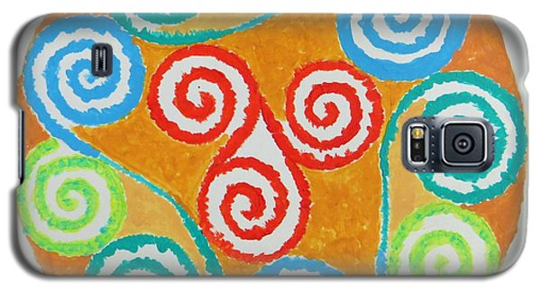 Galaxy S5 Case featuring the painting Mandala by Sonali Gangane