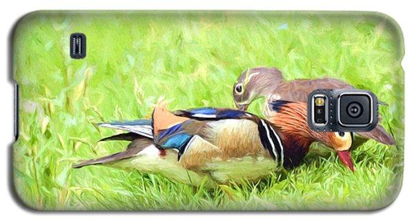 Mandarin Duck Couple Galaxy S5 Case