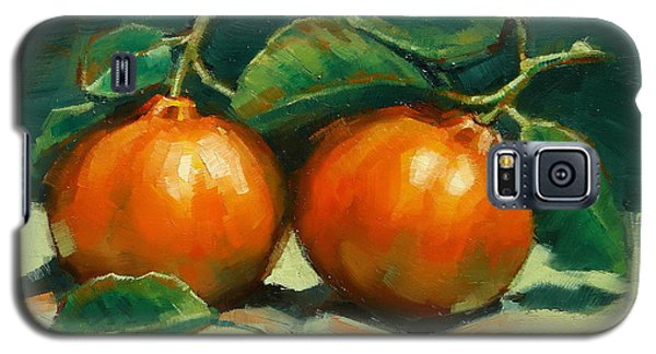 Galaxy S5 Case featuring the painting Bush Mandarins by Margaret Stockdale