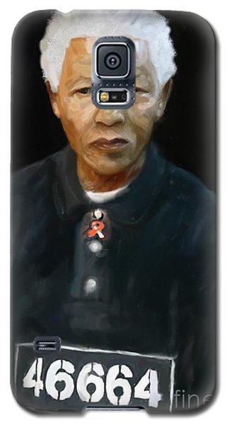 Galaxy S5 Case featuring the digital art Mandela by Vannetta Ferguson