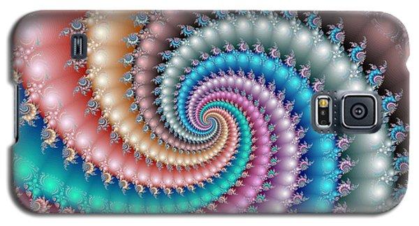 Mandelbrot Fractal Spyral Galaxy S5 Case by Svetlana Nikolova