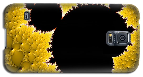 Mandelbrot Set Black And Yellow Fractal Art Galaxy S5 Case