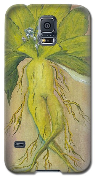 Galaxy S5 Case featuring the painting Mandrake by Conor Murphy