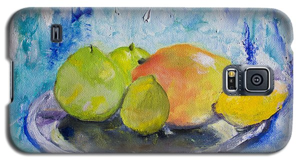 Galaxy S5 Case featuring the painting Mango by Aleezah Selinger