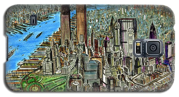 New York Downtown Manhattan 72 Galaxy S5 Case by Art America Gallery Peter Potter