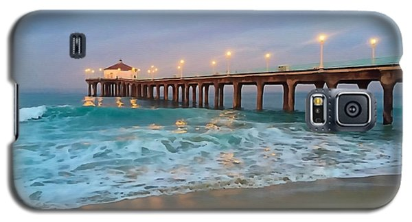 Manhattan Beach Reflections Galaxy S5 Case by Art Block Collections