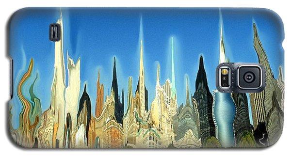 New York City 2100 - Modern Art Galaxy S5 Case by Art America Gallery Peter Potter
