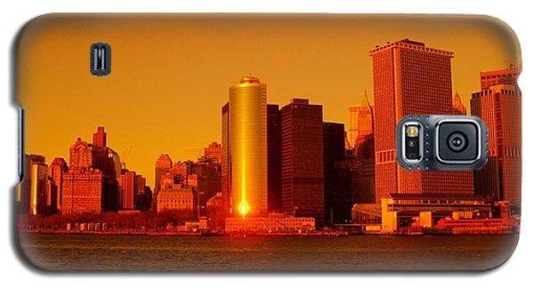 Manhattan Skyline At Sunset Galaxy S5 Case