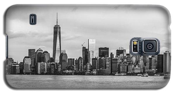 Manhattan Skyline Black And White Galaxy S5 Case