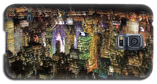 Galaxy S5 Case featuring the photograph Manhattan Skyline Empire State Wobbles by Andy Prendy